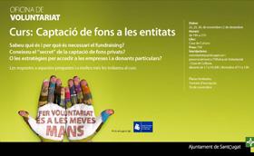 Curs: 'Captació de fons per a les entitats'