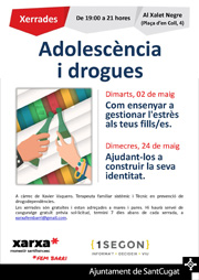 Cicle de xerrades: Adolescència i drogues